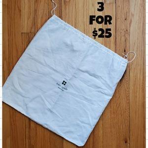 Kate Spade White Drawstring Storage Bag